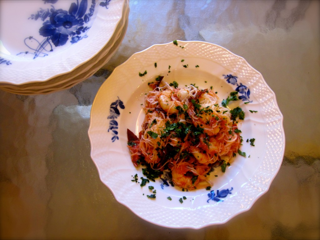 Shrimp and Cellophane Noodles is this week's French Friday with Dorie's recipe choice.