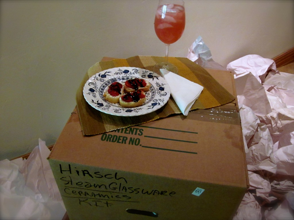While unpacking, nothing's more delicious than Goat Cheese & Strawberry Tartines