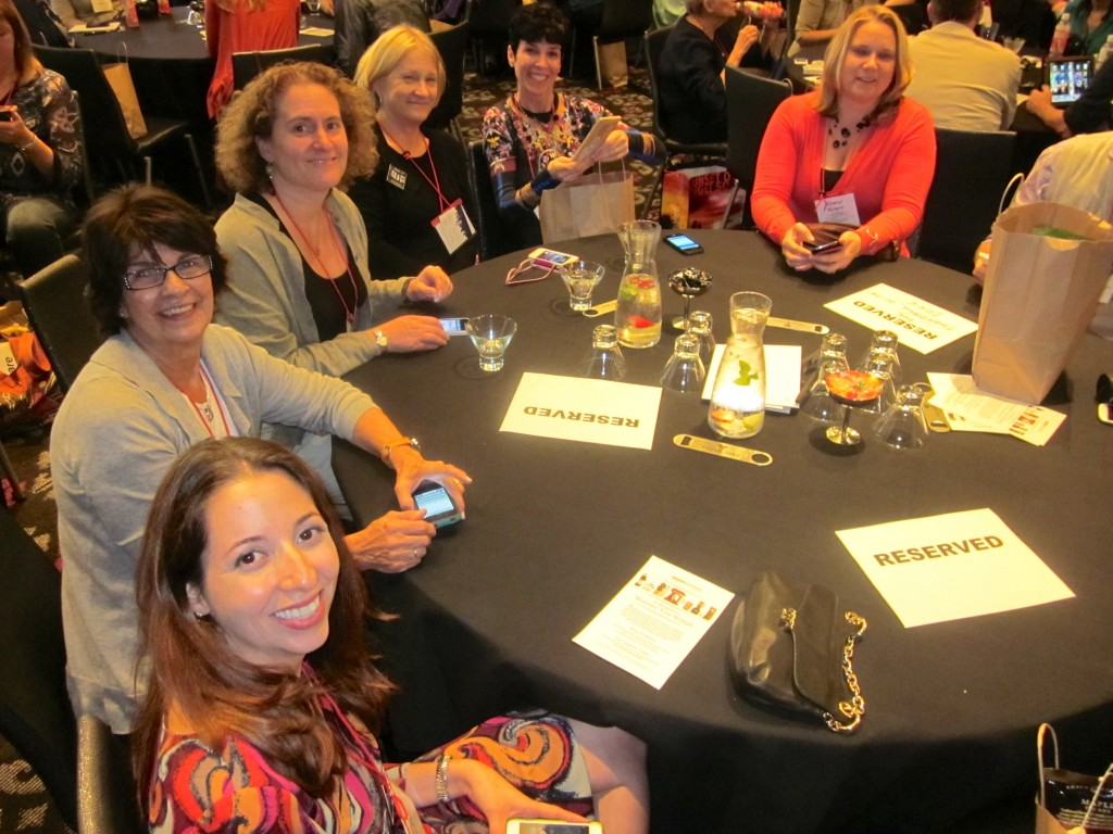 From virtural friendships to the real deal - gathering with  my French Friday colleagues prior to the opening session.