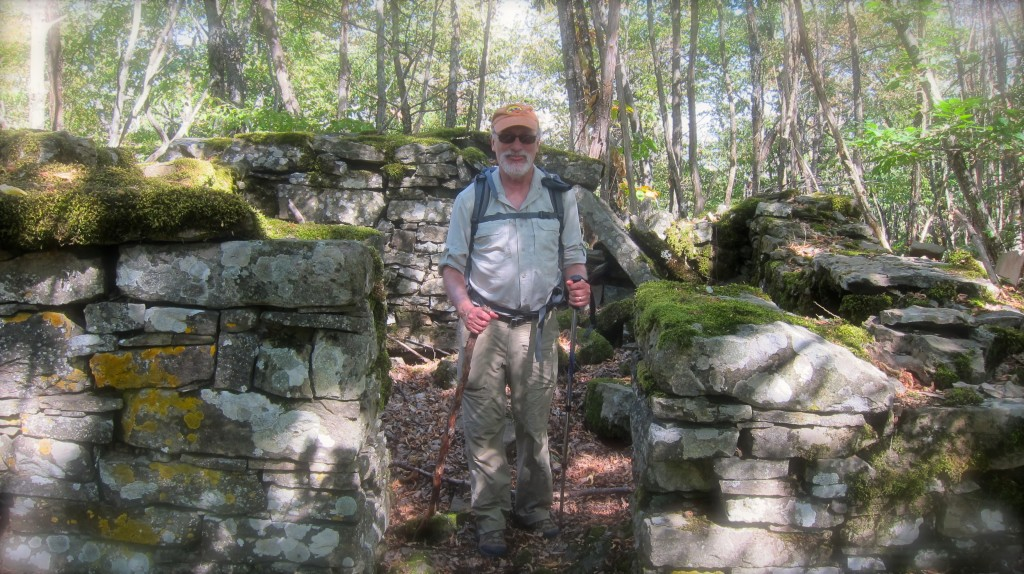 Bernie, standing in a German Bunker on Riva Ridge