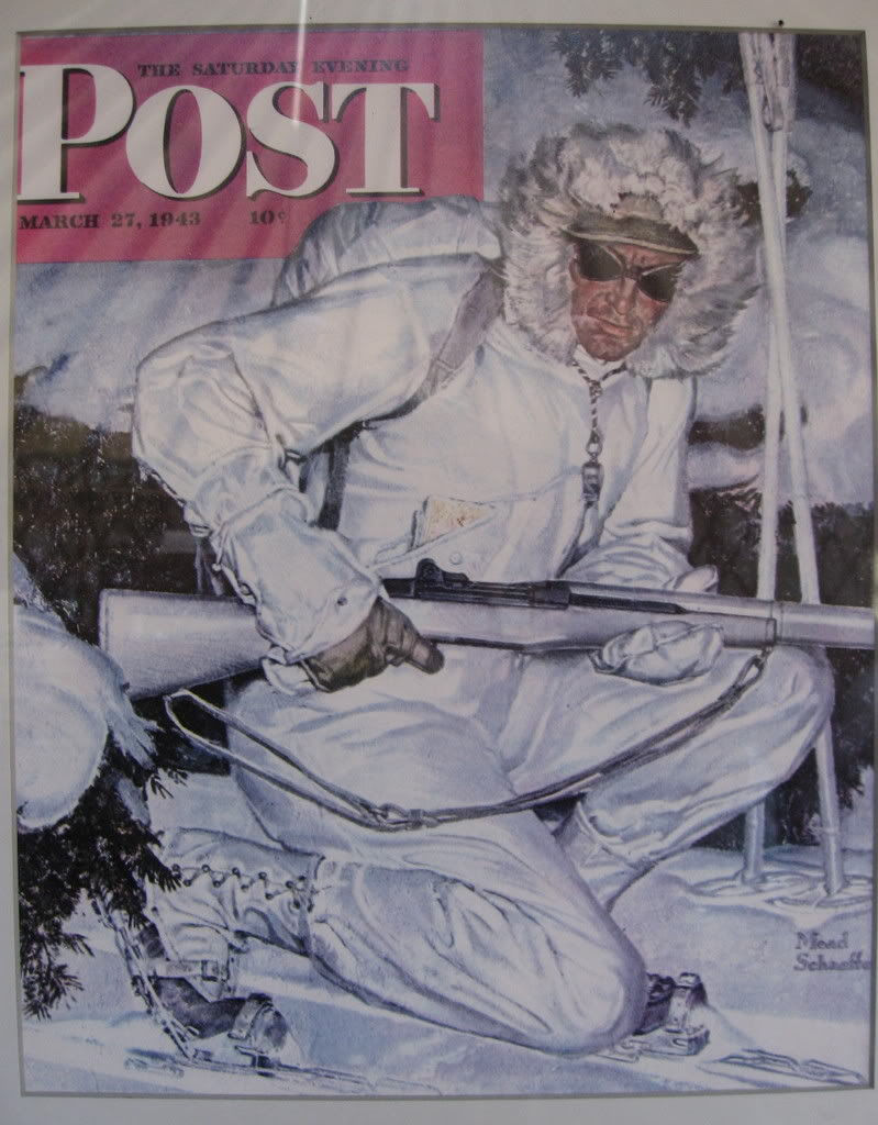 A Tenth Mountain Division soldier featured on the cover of POST Magazine. Photo by 14ers.com