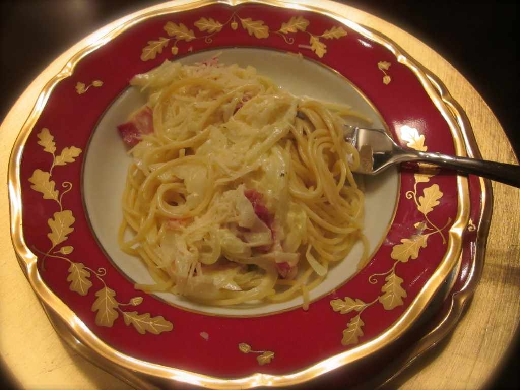 Spaghetti & Onion Carbonara