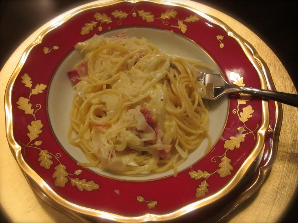 Spaghetti & Onion Carbonara