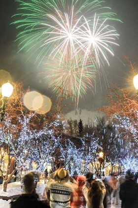 New Year's Eve Fireworks in Aspen, 8:00p.m.     photo:Aspen Daily News