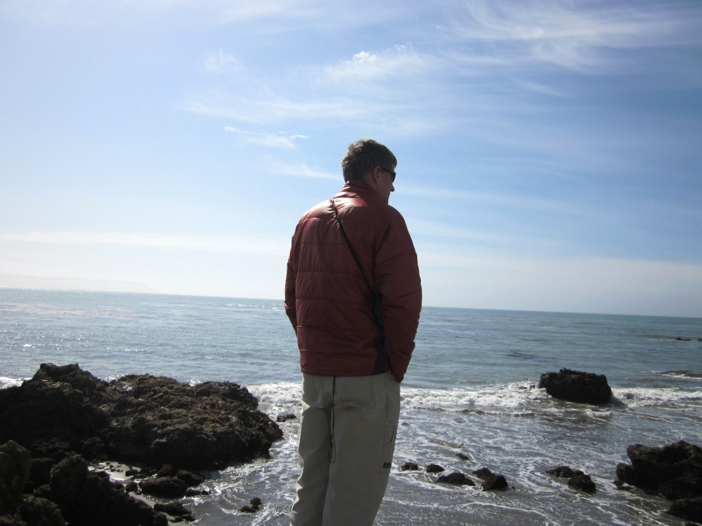 On our last visit to Cambria, Stephen considers the possibilities. Our rental house is located nearby.