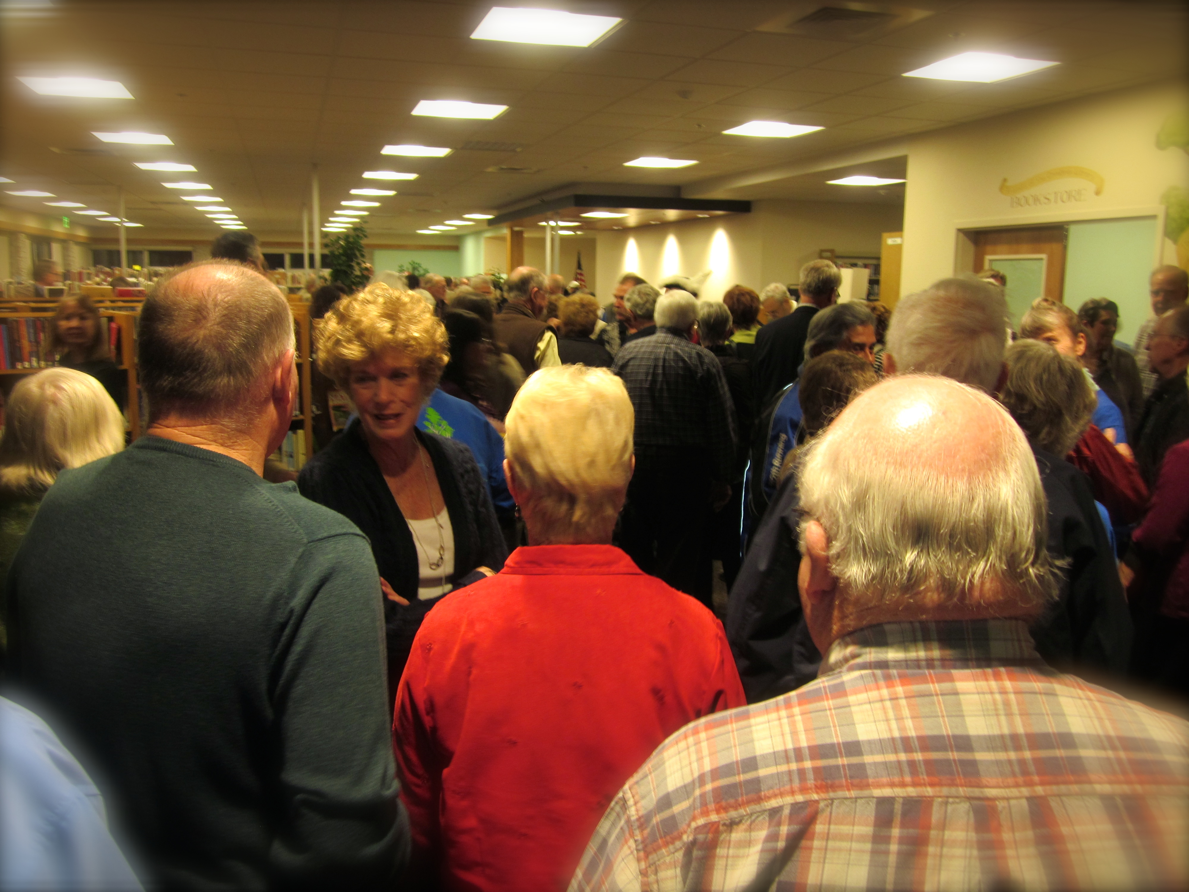 The grand opening celebration at the new Cambria Library.