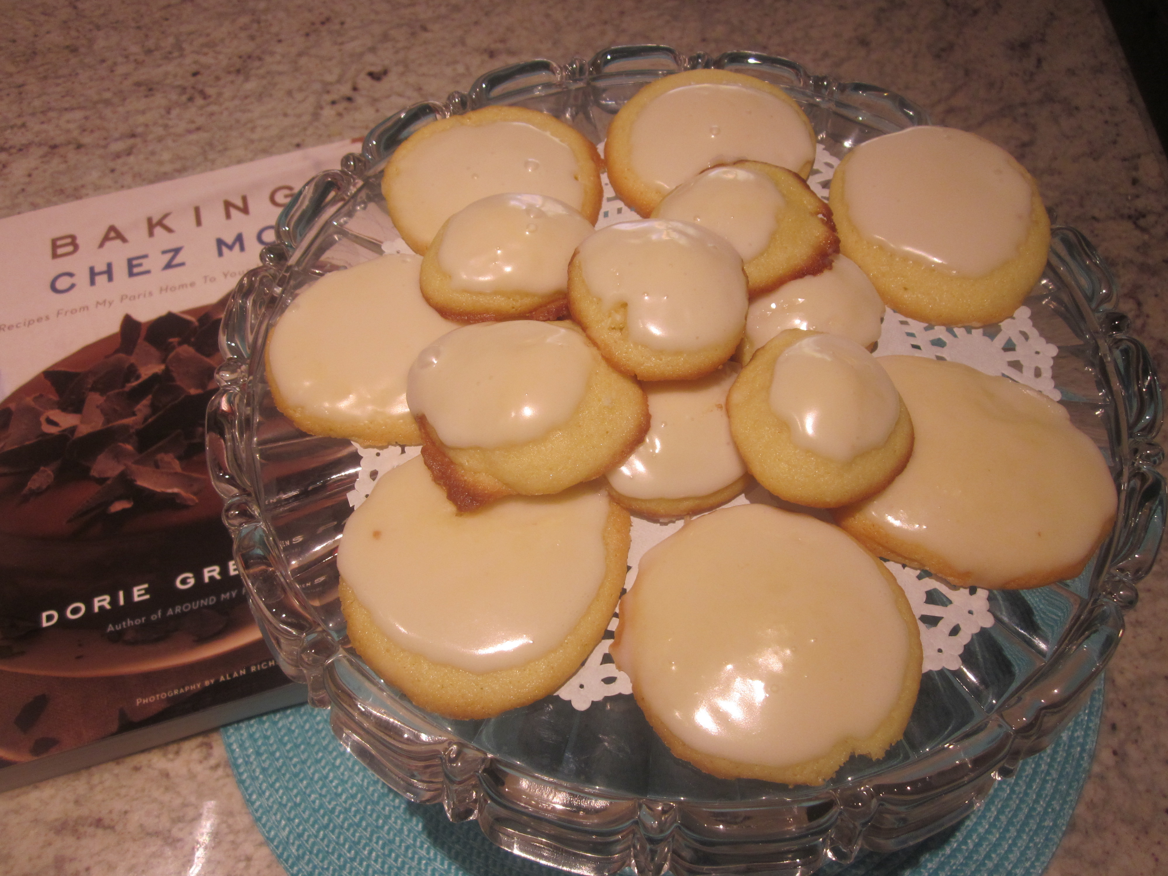 Palets de Dames, Lille Style, a frosted tea cookie, from Baking Chez Moi, Recipes from my Paris Home to Your Home Anywhere