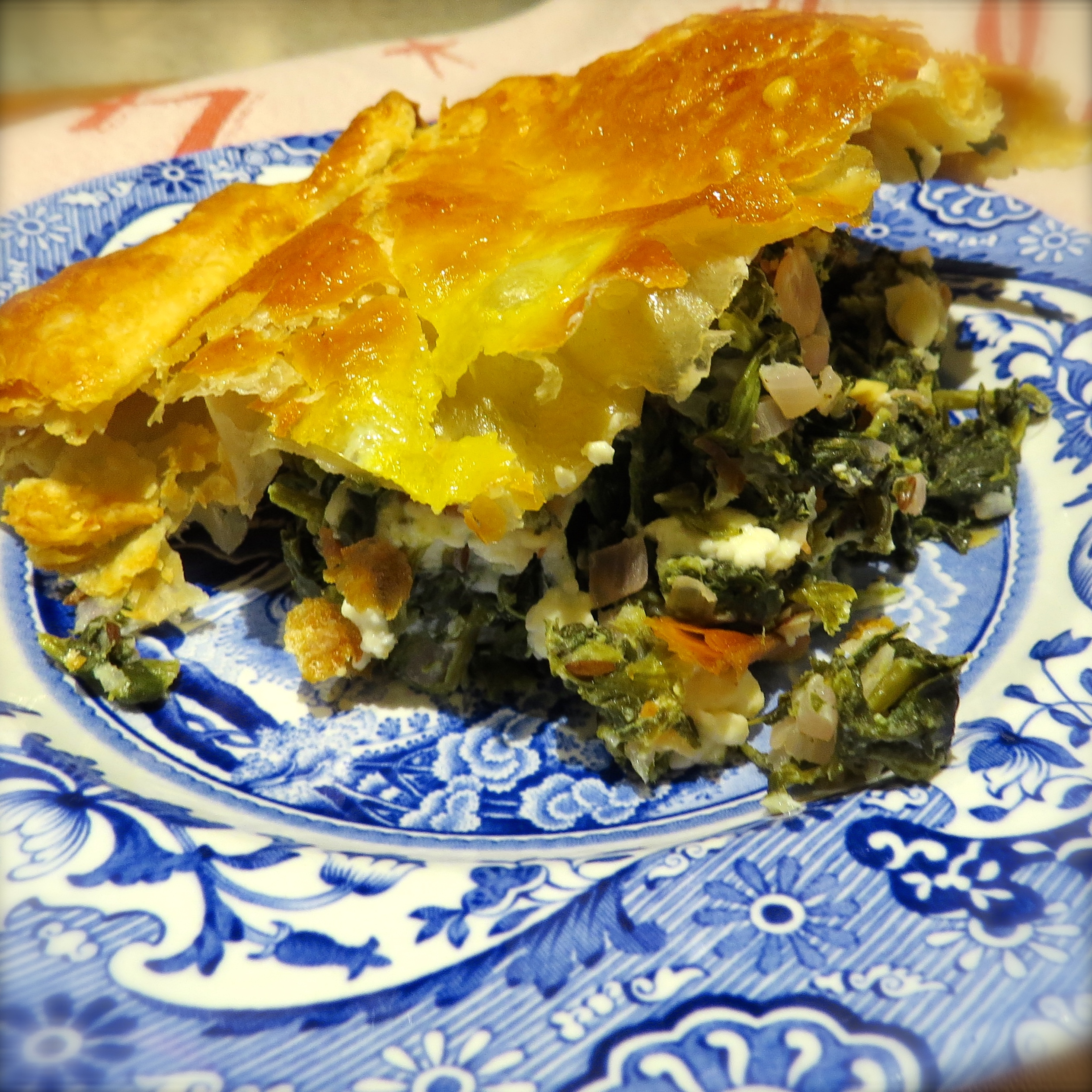 Corner Shop Spanakopita, one of my December Cottage Cooking Club choices from Hugh Fearnley-Whittingstall's River Cottage VEG cookbook.