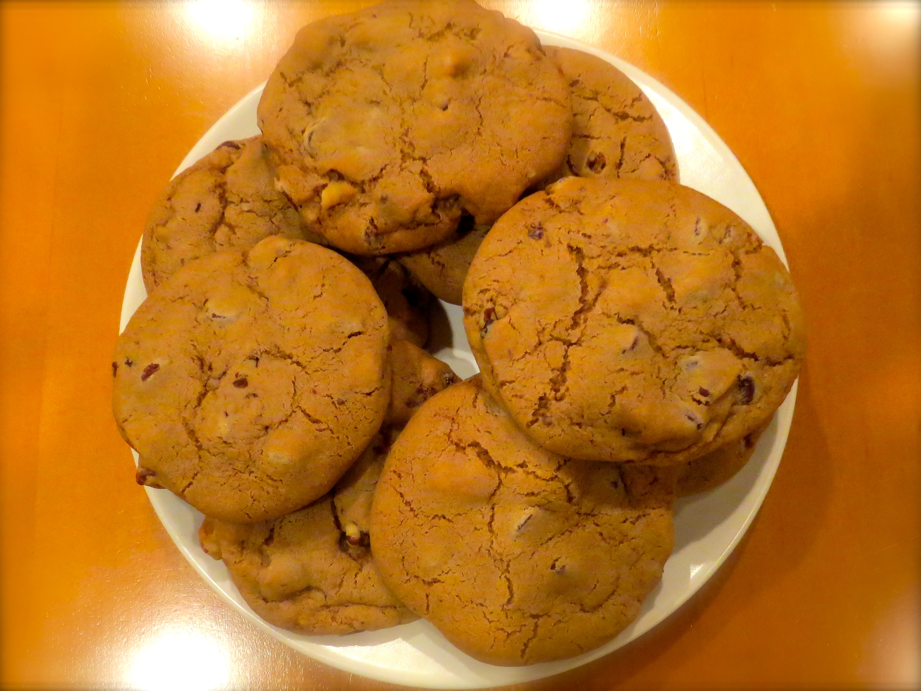Dessert: Mrs. Lester's Chocolate Chip Cookies. She shared the recipe with me. I'll share it with you.