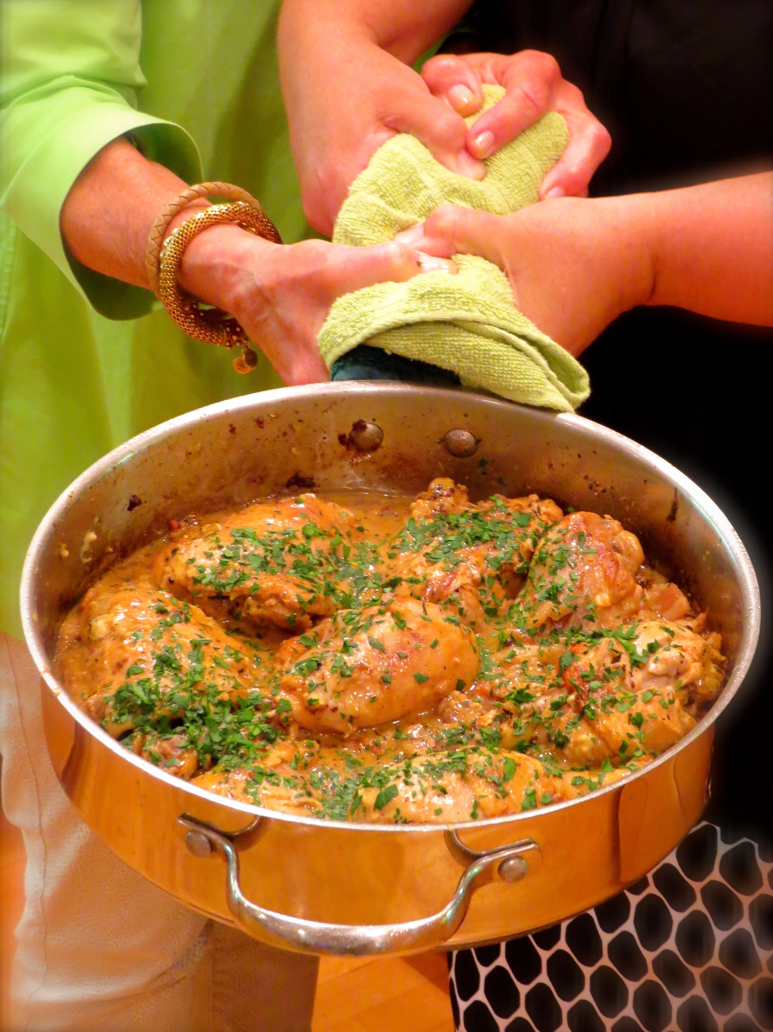 "Poulet À La Moutarde, a delicious mustard chicken from David Lebovitz's ""My Paris Kitchen"" cookbook."
