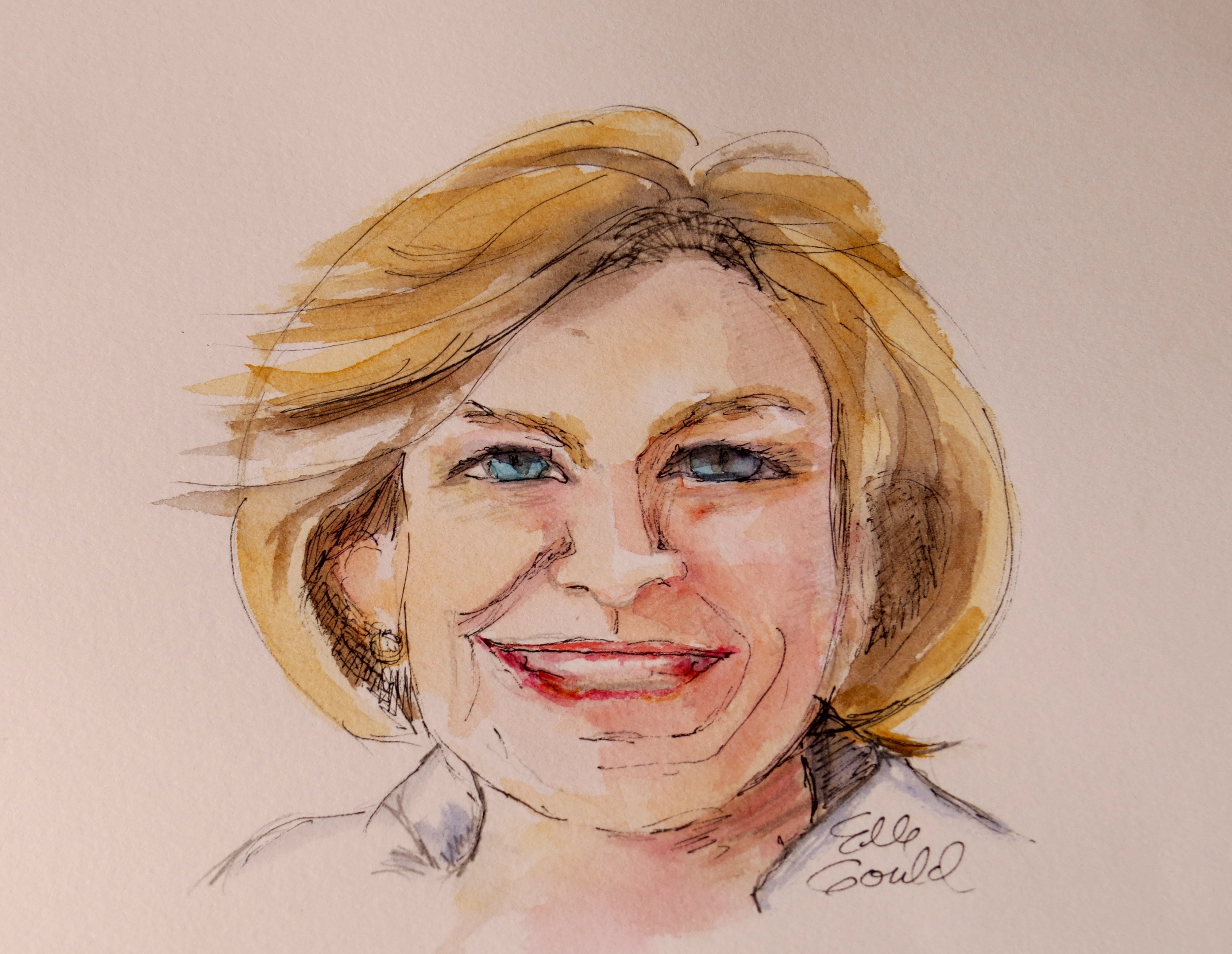 Celebrating French Fridays with Dorie, a watercolor by Ellie Gould