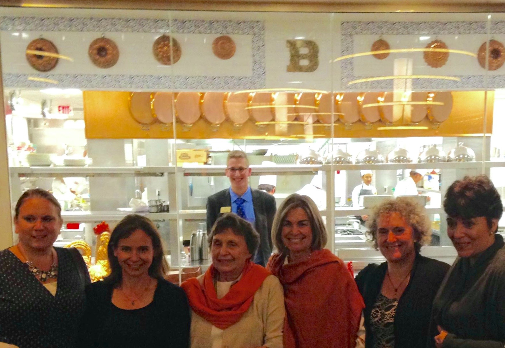 SIX OF THE FRENCH FRIDAYS WITH DORIE GROUP DINING AT THE BOCUSE RESTAURANT AT THE CIA.  Patty Stormer photo.