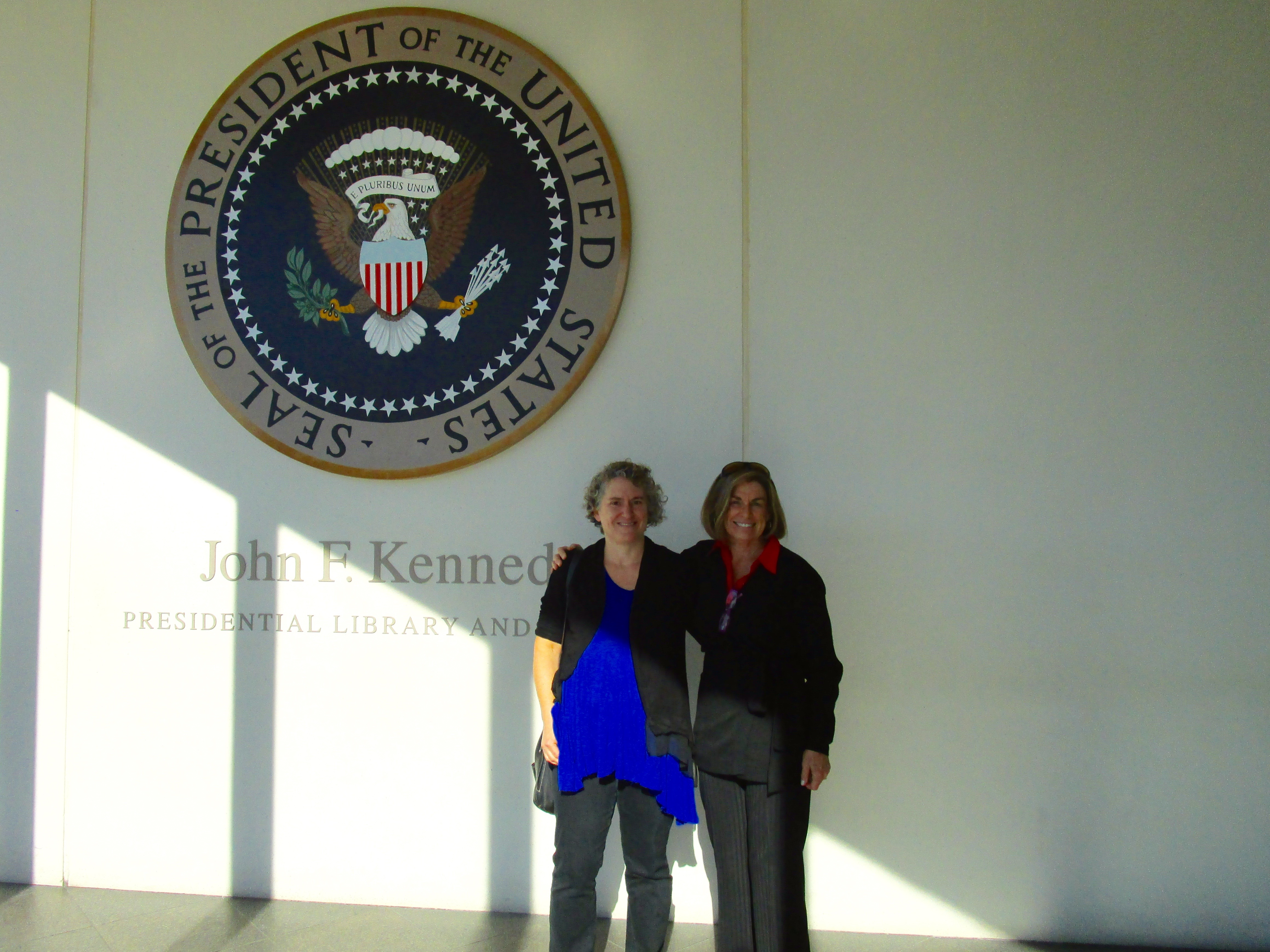 BETSY'S AND MY FIRST STOP IN BOSTON WAS AT JFK'S PRESIDENTIAL LIBRARY.