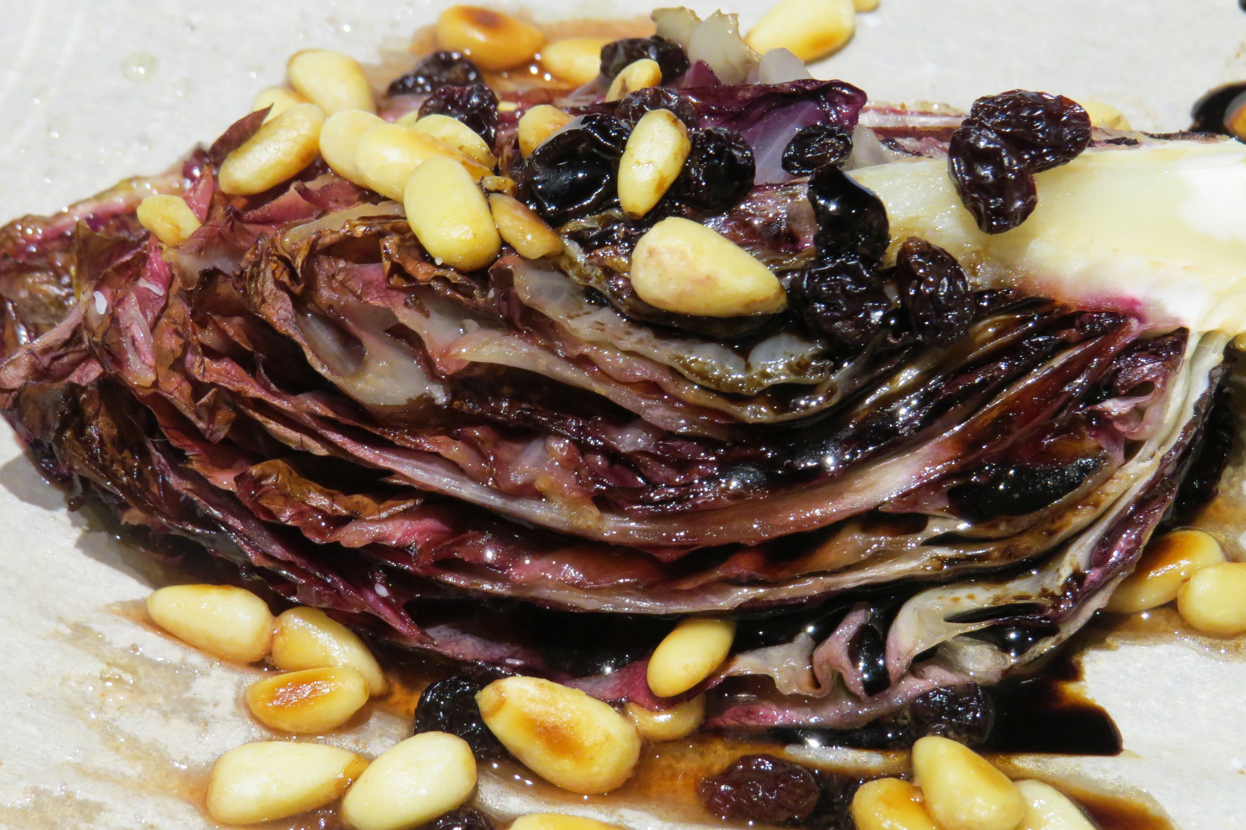 RADICCHIO with PINE NUTS, CURRANTS and AGED BALSAMIC