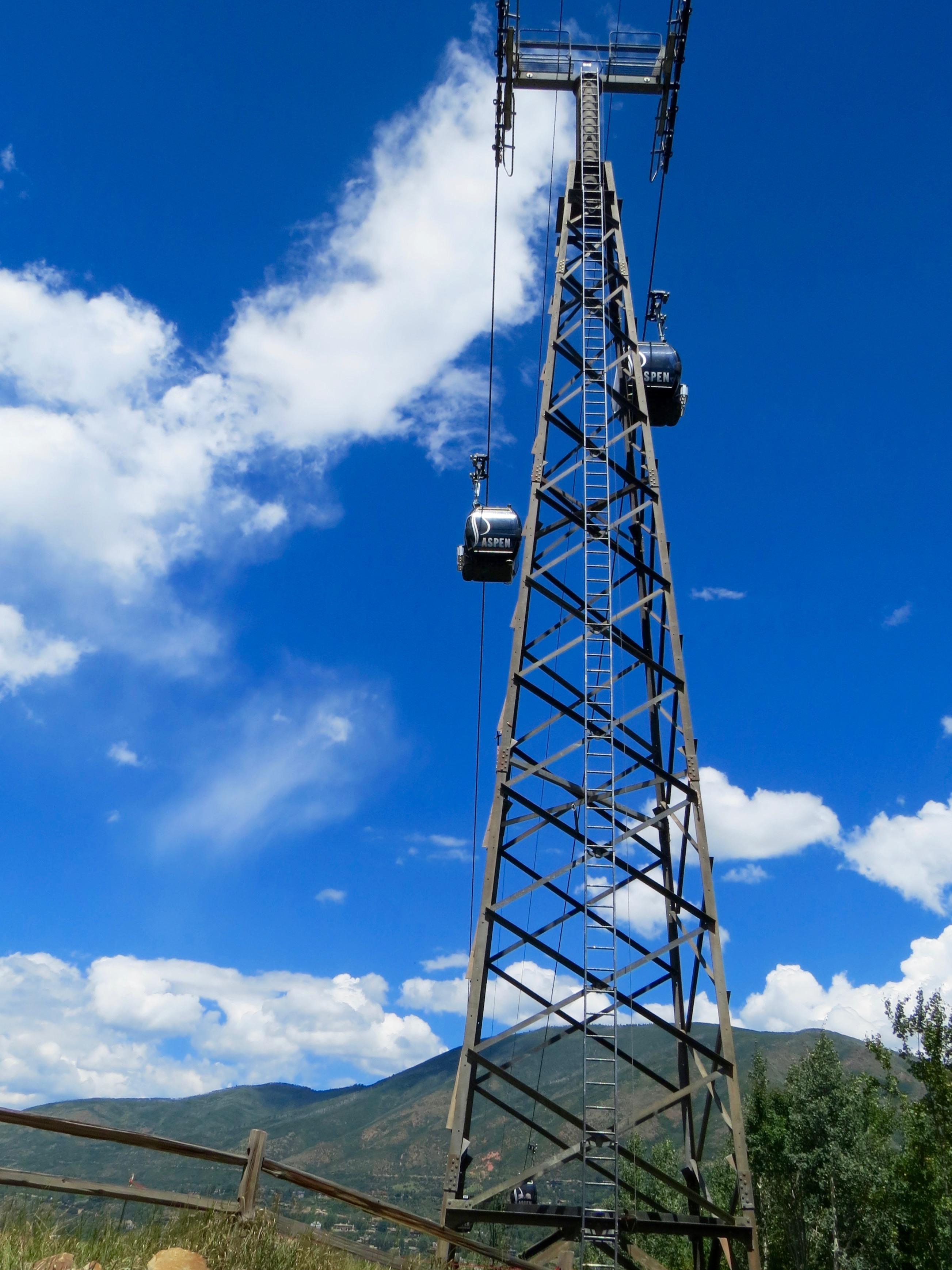 Nearby The Gant, the Aspen Mountain gondola runs all summer.
