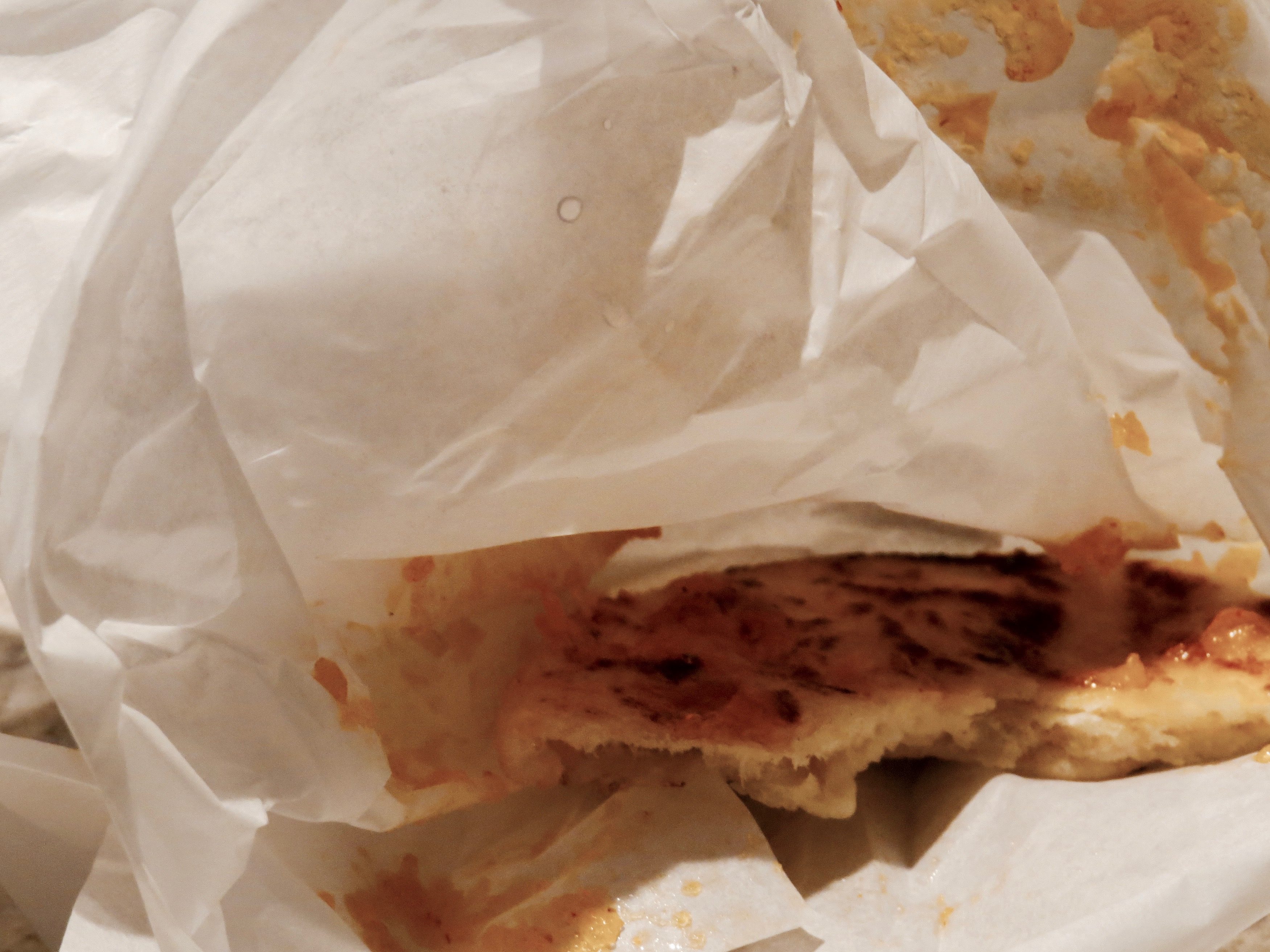 STREET FOOD. WHAT'S LEFT? JUST THE WRAPPER.